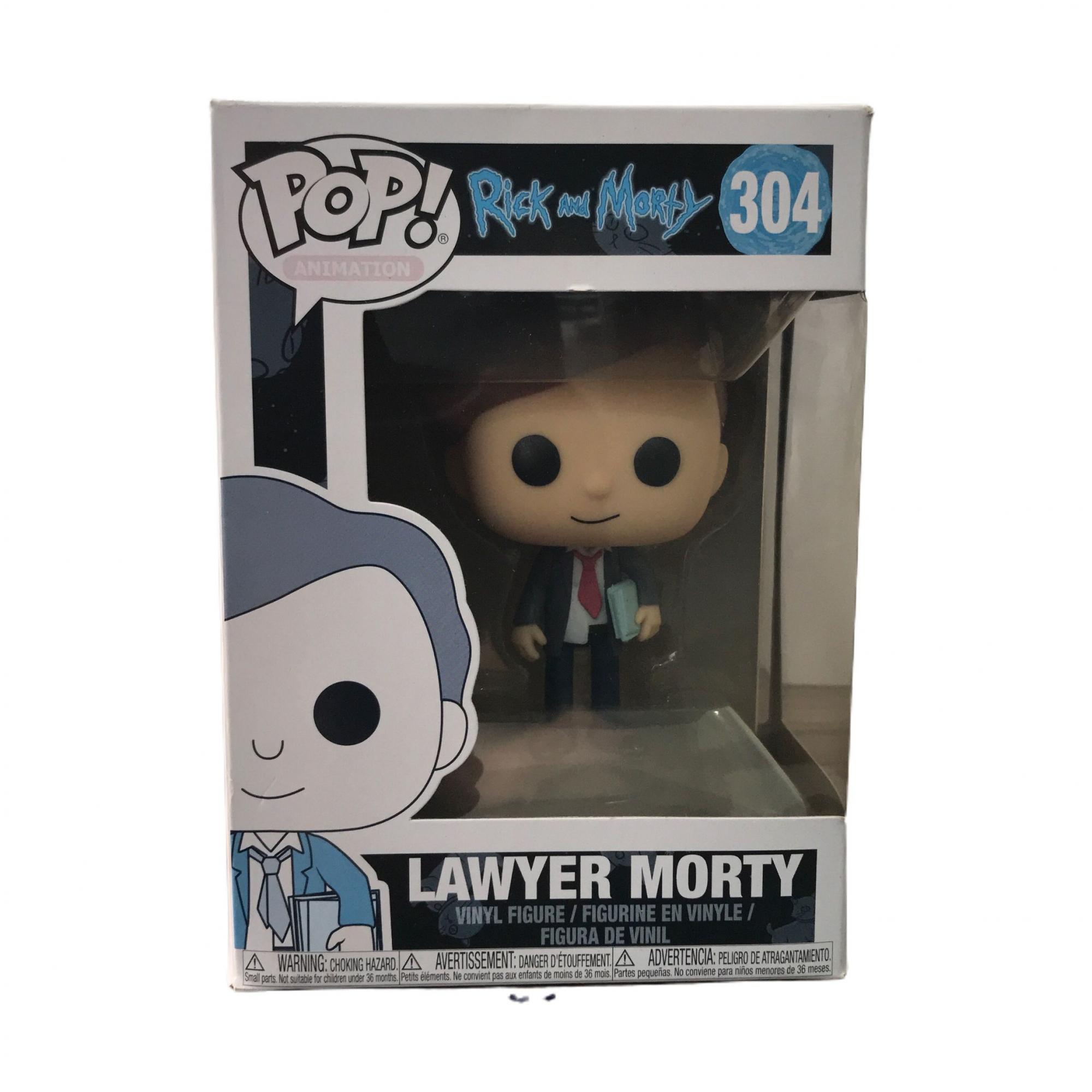 Boneco Funko POP Rick and Morty Lawer Morty Nº 304 (Seminovo)
