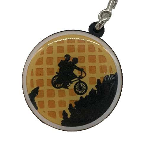 Chaveiro Personalizado Resinado Lua Waffle