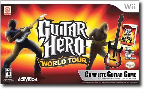 Guitar Hero World Tour (Jogo + Guitarra) (Seminovo) - Wii
