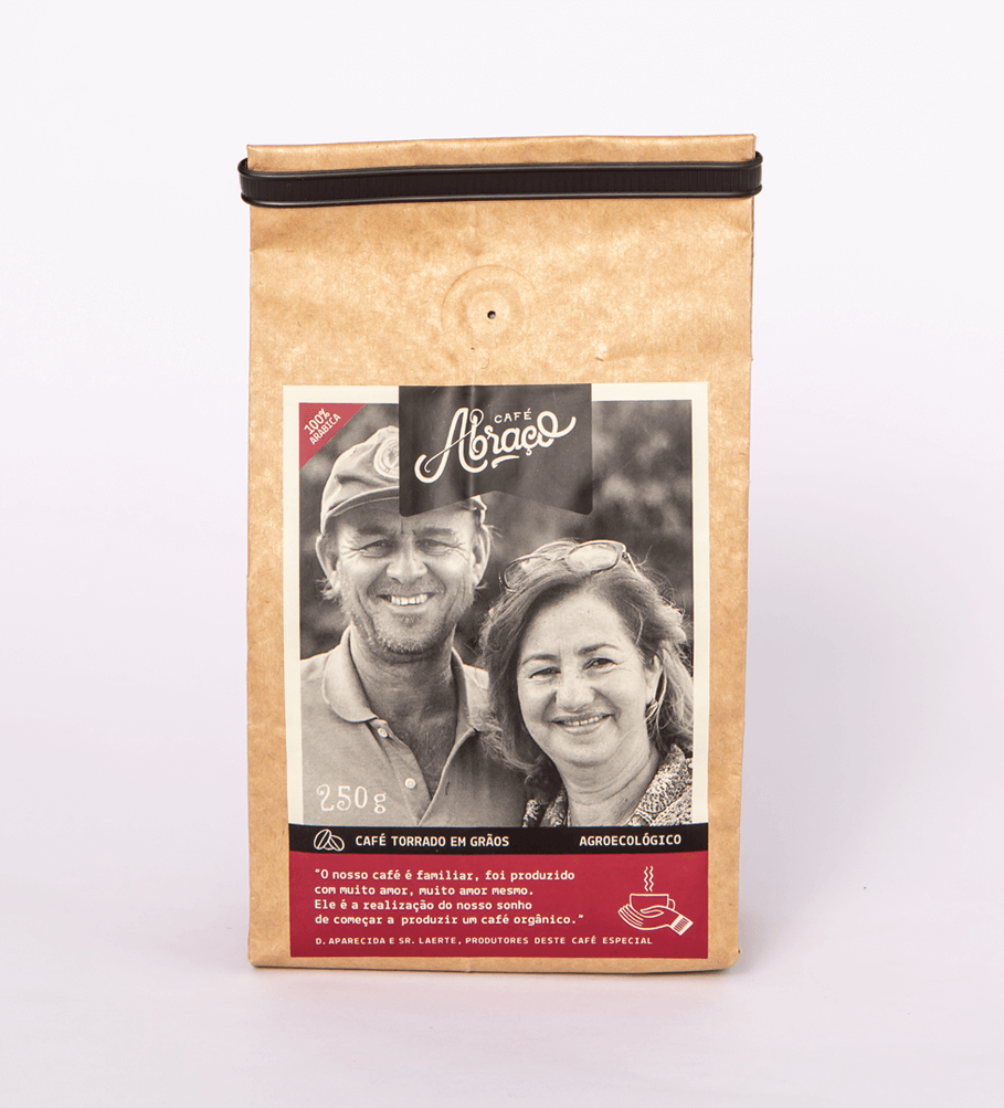 Café da Dona Aparecida e Sr. Laerte, café agroecológico com notas sensoriais de chocolate e garapa de cana - (250g)