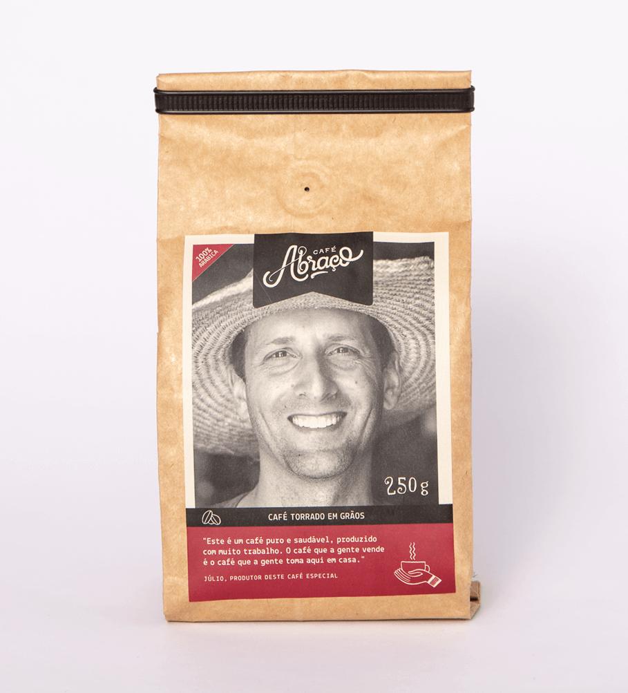 Café do Júlio, notas sensoriais de chocolate amargo e amendoado - (250g)