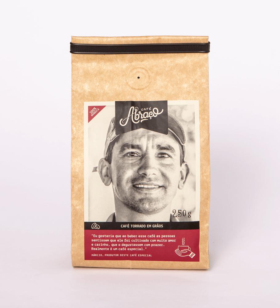 Café do Márcio, notas sensoriais de chocolate ao leite, açúcar mascavo e amendoim torrado - (250g)