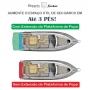 Extensão de plataforma de popa Focker 265 Cab/Open