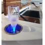 Porta Copo Iluminado Corpo em Alumínio Dourado (Iluminação em LED)