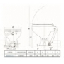 Vaso sanitário elétrico 12V - Peças e Acessórios Lancha Focker