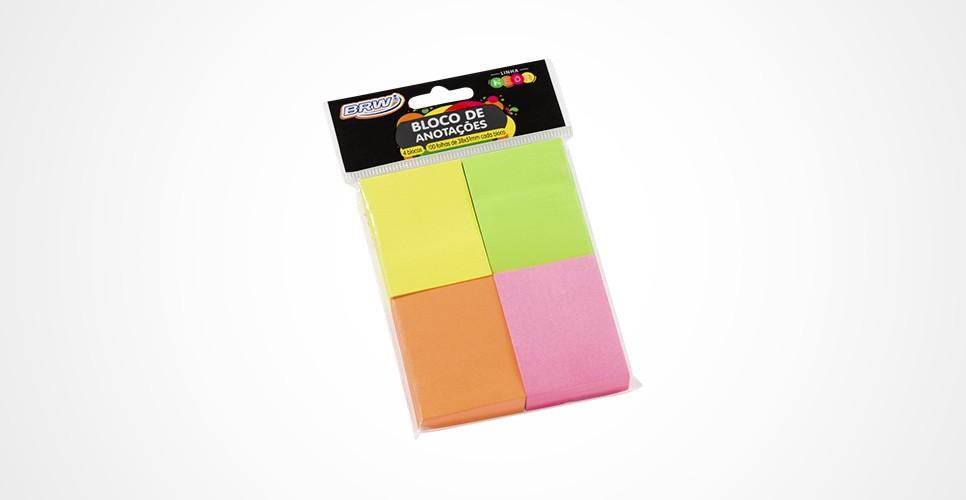 Bloco Anotações Neon 4 cores 38x51mm 100fls cada BA3899