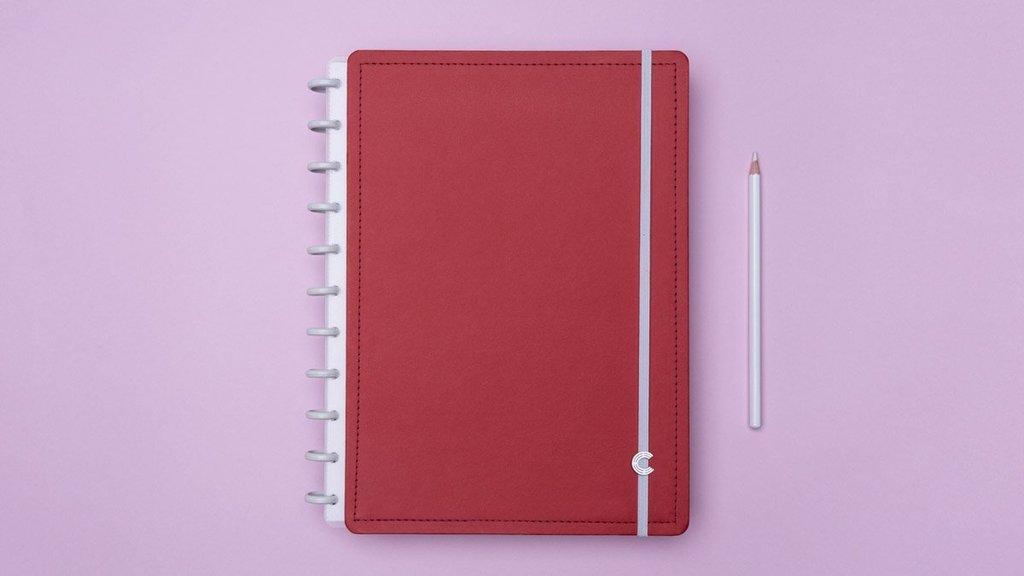 Caderno Inteligente G Vermelho Cereja