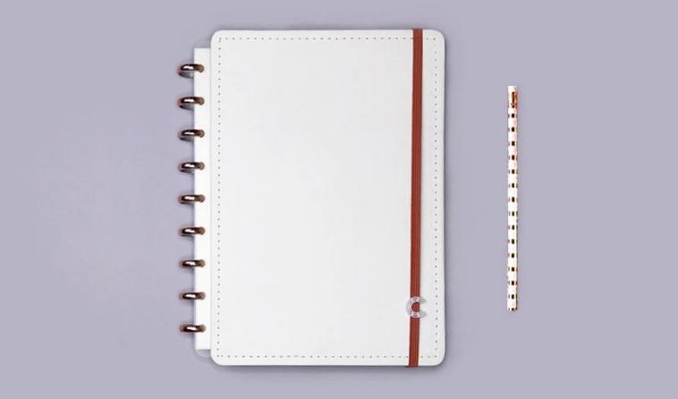 Caderno Inteligente M All White