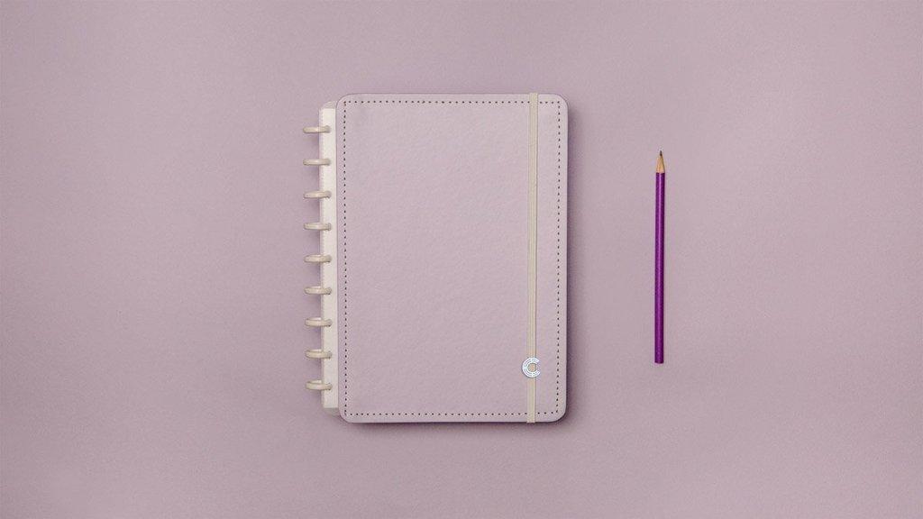 Caderno Inteligente M Lilás Pastel