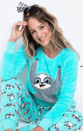Puket Pijama Longo Soft Adulto Preguiça - Puket