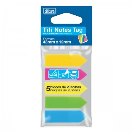 Tili Notes Tag 43mmx12mm cores