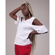 Blusa Ombros Vazados Branca