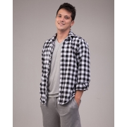Camisa Flanela Quadriculada Manga Comprida
