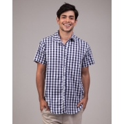 Camisa Manga Curta Xadrez Grid