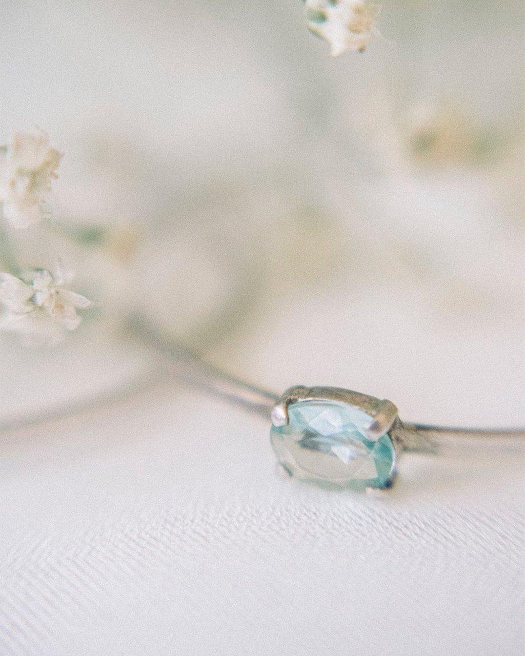 Bracelete Regulável Cristal Azul