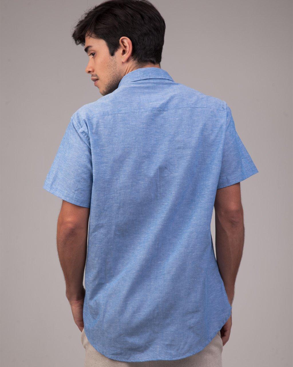 Camisa de Linho Manga Curta
