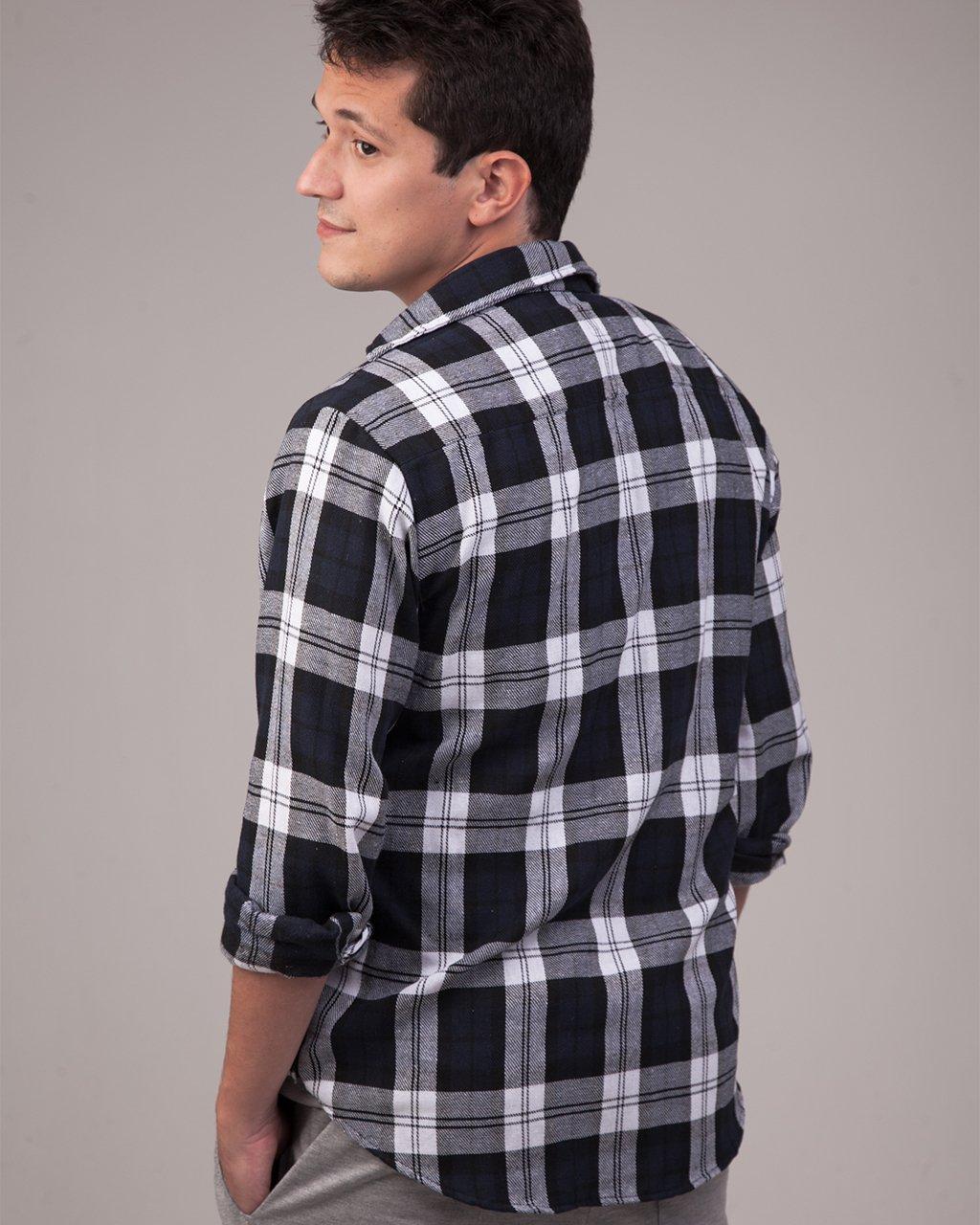 Camisa Flanela Xadrez Manga Comprida