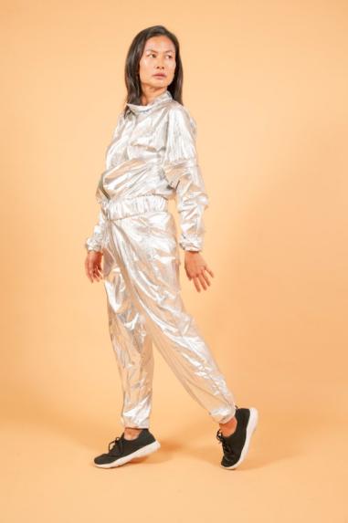 Jaqueta Metalizada Prata