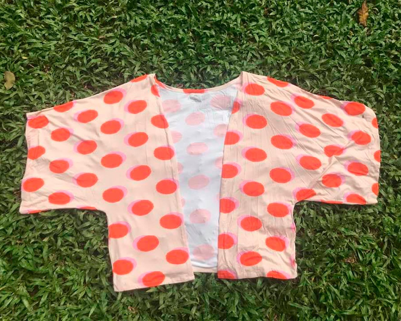 Kimono Amplo Estampa Círculos