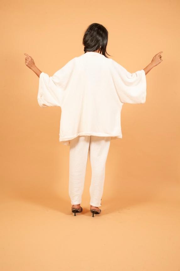 Kimono de Malha Branco