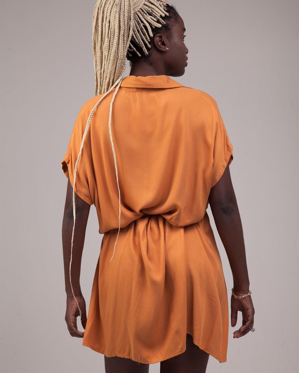Vestido Curto Chemise Amarração