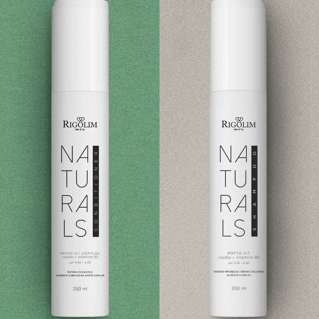 KIT NATURALS 250ML - RIGOLIM HAIR & CO (2 PRODUTOS)