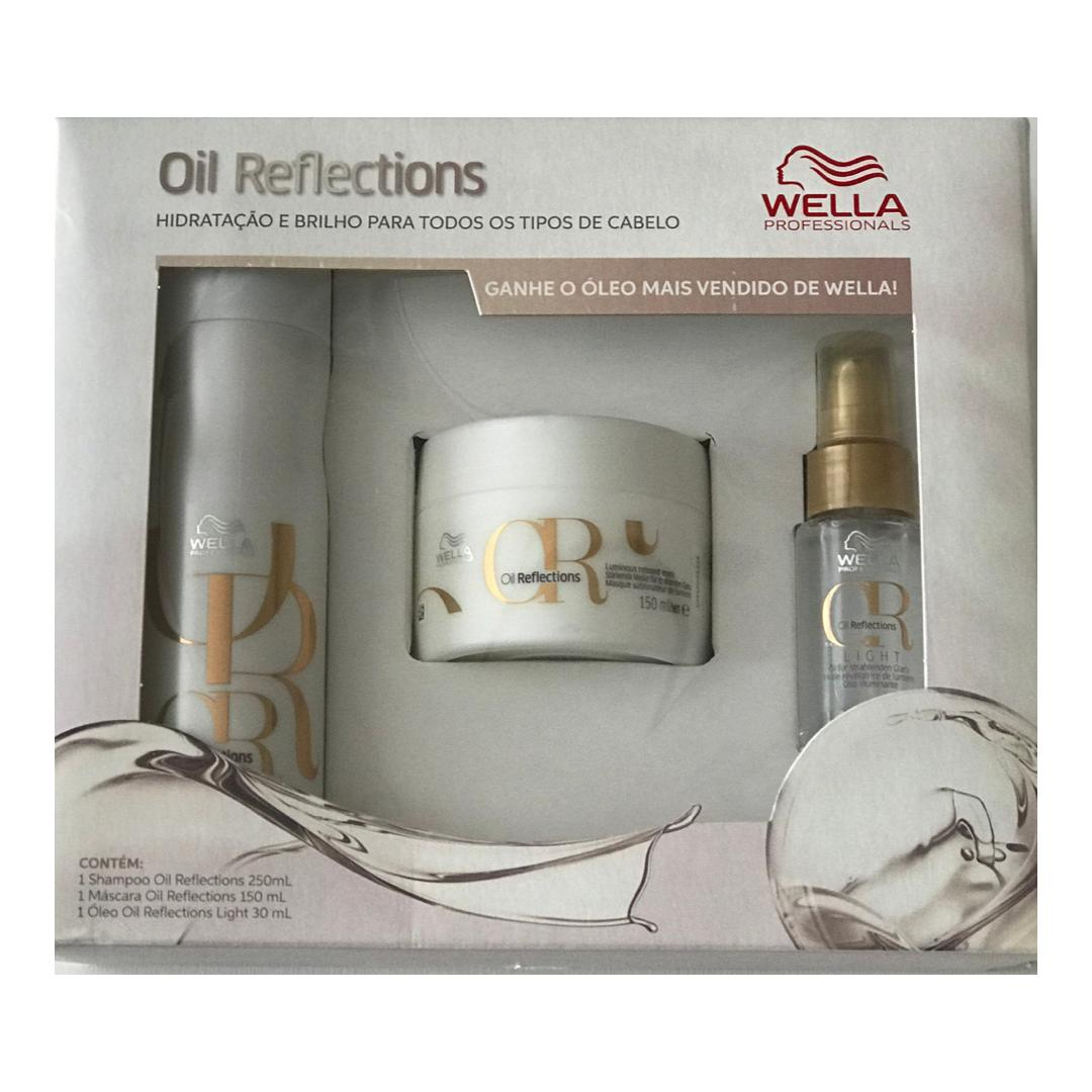 KIT OIL REFLECTIONS WELLA PROFESSIONALS - SHAMPOO + MÁSCARA + OIL REFLECTIONS
