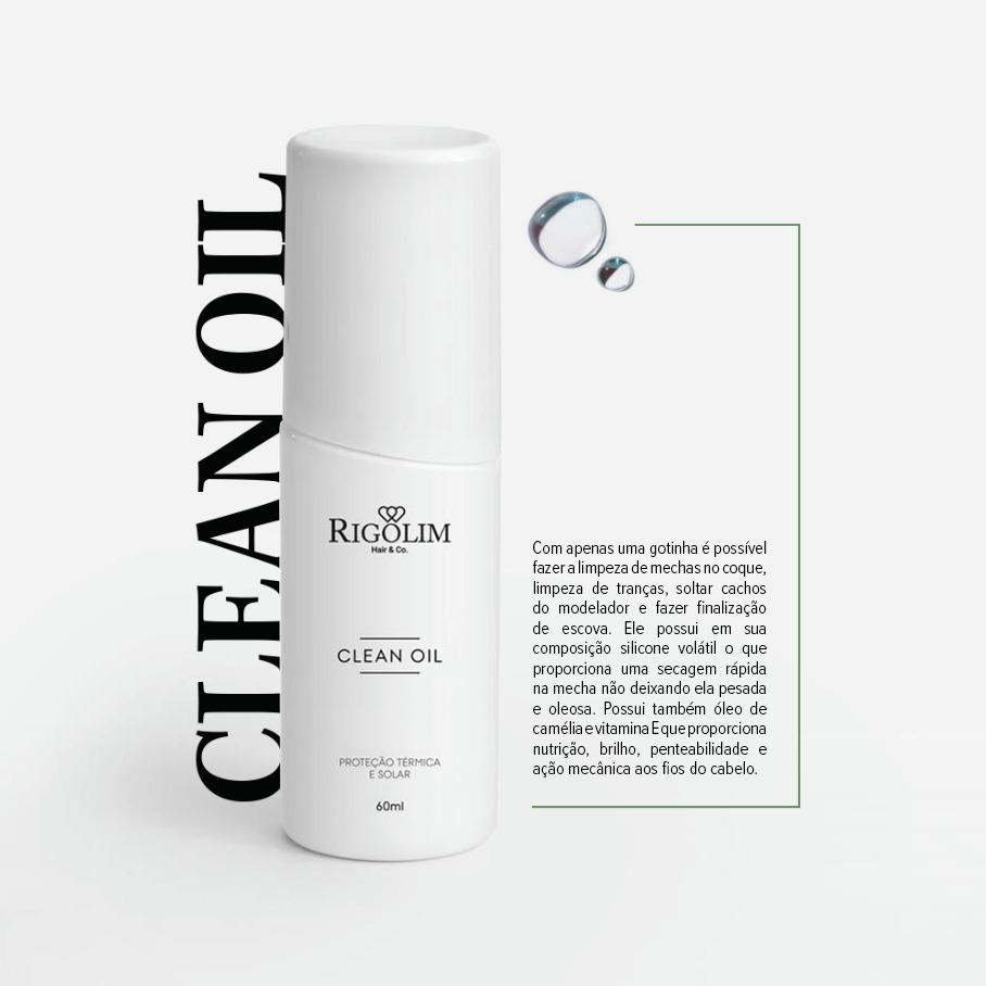 ÓLEO -  RIGOLIM HAIR & CO CLEAN OIL 63ml