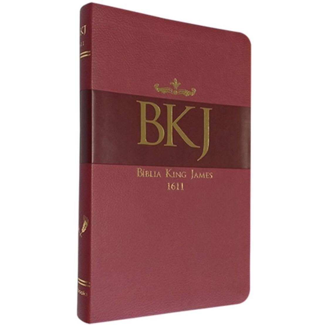 BIBLIA BKJ FIEL 1611 ULTRA FINA - LUXO VERMELHA