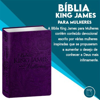 BIBLIA KING JAMES PARA MULHERES - ROXO