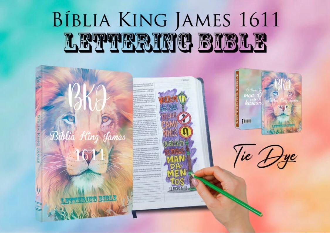 BIBLIA LETTERING BIBLE TIE DYE BV