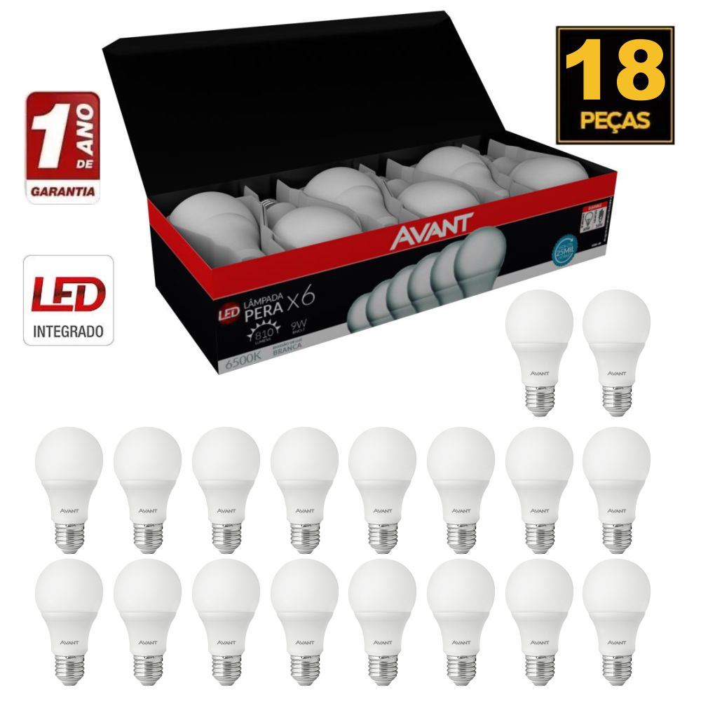 Lampada de Led Avant 6500K 9W bi-volt caixa c/ 18unid