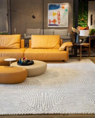 Tapete Casablanca Winter | Living Quarto Home Sala de Estar Jantar TV Corredor Personalizado Sob Medida Antialérgico Nylon Orgânico Cinza