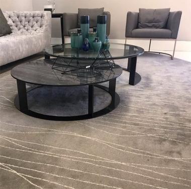 Tapete Havasu Aço | Living Quarto Home Sala de Estar Jantar TV Corredor Personalizado Sob Medida Antialérgico Nylon Orgânico Cinza