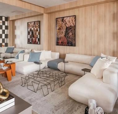 Tapete La Digue Winter | Living Quarto Home Sala de Estar Jantar TV Corredor Personalizado Sob Medida Antialérgico Nylon Abstrato Cinza