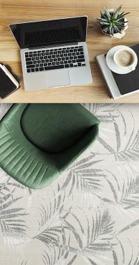 Tapete Palm Spring Celadon | Living Quarto Home Sala de Estar Jantar TV Corredor Personalizado Sob Medida Antialérgico Nylon Orgânico Verde