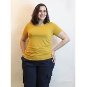 Blusa Básica Com Decote Redondo Baby Look Plus Size