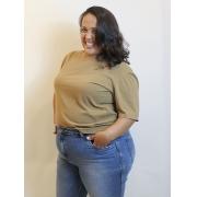 Blusa Básica De Algodão Estonada Plus Size