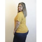 Blusa Básica Decote V Plus Size