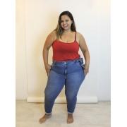 Calça Girlfriend Blue Jeans Plus Size Básica