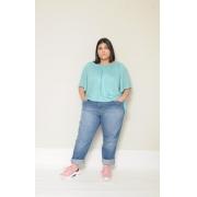 Calça Jeans Básica Reta Blue Plus Size