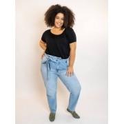 Calça Jeans Clochard Plus Size - Delavé