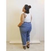 Calça Jeans Clochard Plus Size - Light Blue