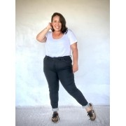 Calça Jeans Plus Size Super Skinny Black