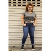 Calça Jeans Super Skinny Básica Plus Size