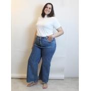 Calça Jeans Wide Leg Plus Size