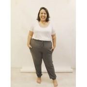 Calça Jogger Pijama Canelada Plus Size