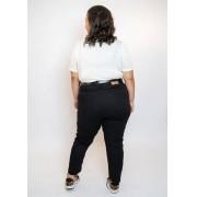 Calça Mom Jeans Plus Size Preta