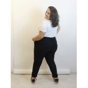 Calça Jeans Skinny Preta Plus Size