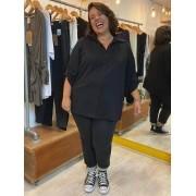 Camisa Plus Size com Mangas 7/8